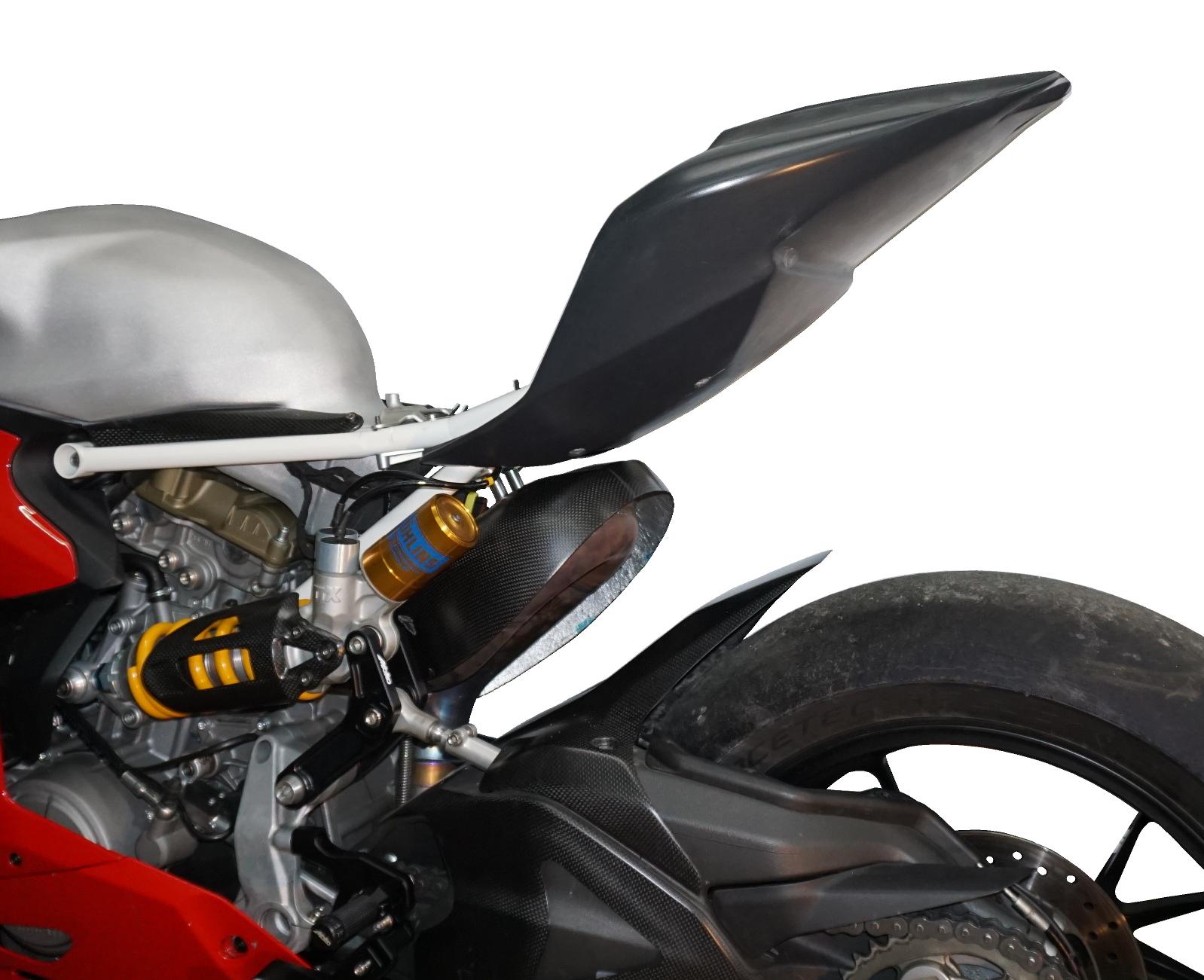 Heckrahmen 08.002.11 Heckverkleidung 08.002.14 Moko Ducati Panigale Heck Natur