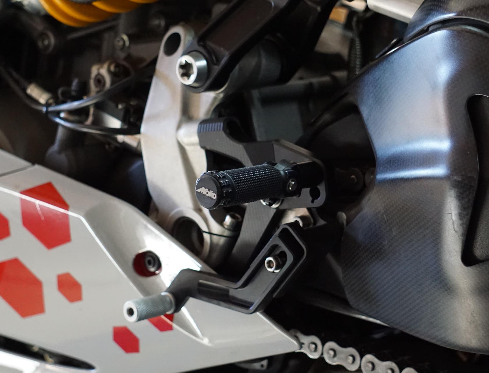 Moko Racing Parts Panigale 1199 1299 Rastenanlage links